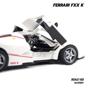 โมเดลรถเหล็ก FERRARI FXX K สีขาว (1:32) ภายในรถจำลองเหมือนจริง