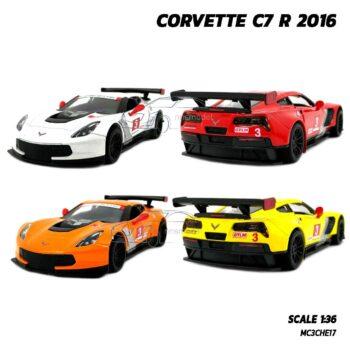 โมเดลรถสปอร์ต CORVETTE C7 R 2016 รถเหล็กโมเดล มี 4 สี