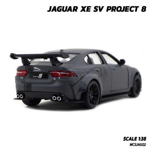 โมเดลรถเหล็ก JAGUAR XE SV PROJECT 8 สีเทาคาดลาย (Scale 1:38) รถโมเดล จากัวร์ พร้อมตั้งโชว์