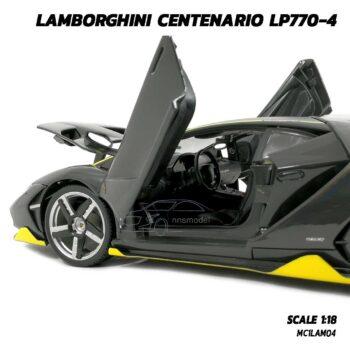 โมเดลรถ LAMBORGHINI CENTENARIO LP770-4 สีเทาดำ (Scale 1:18) โมเดลรถสปอร์ต ภายในรถโมเดลจำลองสมจริง
