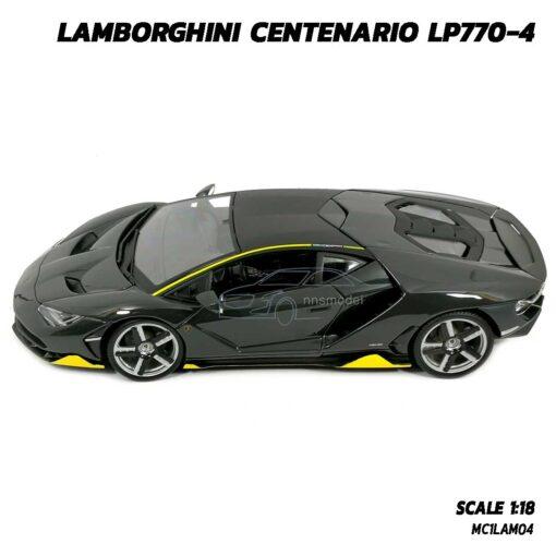 โมเดลรถ LAMBORGHINI CENTENARIO LP770-4 สีเทาดำ (Scale 1:18) โมเดลรถสปอร์ต โมเดลประกอบสำเร็จ เปิดประตูปีกนกได้