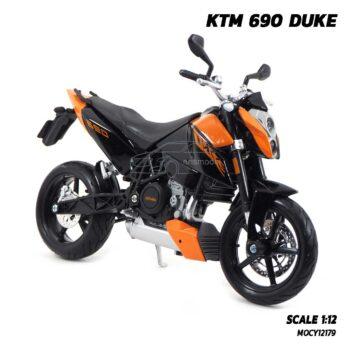 โมเดลมอเตอร์ไซด์ KTM 690 DUKE (Scale 1:12) โมเดลจำลองเหมือนจริง ผลิตโดยแบรนด์ Maisto