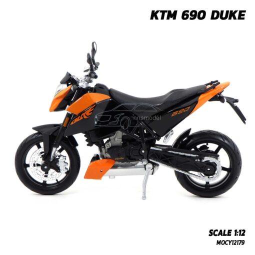 โมเดลมอเตอร์ไซด์ KTM 690 DUKE (Scale 1:12) โมเดลจำลองเหมือนจริง ของแท้ สวยเหมือนจริง