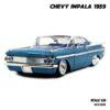 โมเดลรถคลาสสิค CHEVY IMPALA 1959 สีฟ้า (Scale 1:24) รถเหล็ก Jada Toy