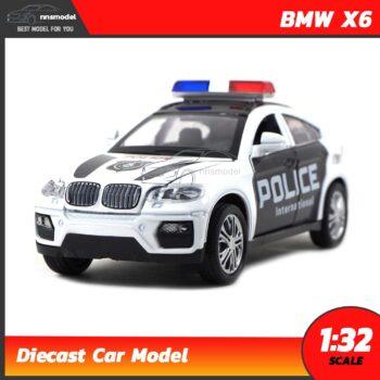 โมเดลรถตำรวจ BMW X6 POLICE (Scale 1:32)