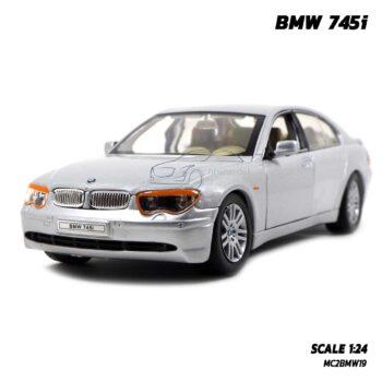 โมเดลรถยนต์ BMW 745i สีบรอนด์ (Scale 1:24) รถเหล็กโมเดลเหมือนจริง