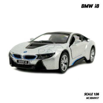 โมเดลรถเหล็ก BMW i8 สีบรอนด์ จำลองเหมือนจริง โมเดลซุปเปอร์คาร์