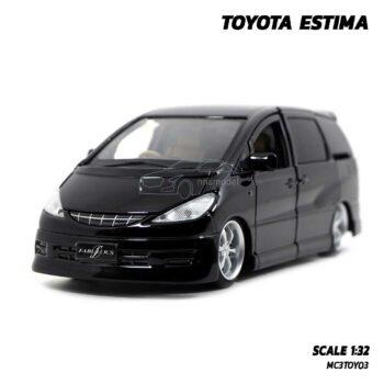 โมเดลรถ โตโยต้า TOYOTA ESTIMA สีดำ (Scale 1:32) รถเหล็กมีเสียงมีไฟ