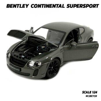 โมเดลรถ BENTLEY CONTINENTAL SUPERSPORT สีเทา (1:24) model รถ จำลองเหมือนจริง