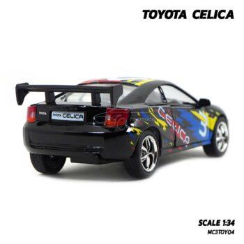 โมเดลรถ TOYOTA CELICA สีดำ (1:34) รถเหล็ก มีลานวิ่งได้