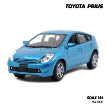 โมเดลรถ TOYOTA PRIUS สีฟ้า (1:34) โมเดลรถยนต์ โตโยต้า พรีอุส ประกอบสำเร็จ