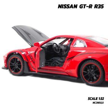 โมเดลรถยนต์ NISSAN GT-R R35 (1:32) Supercar Model นิสสัน จีทีอาร์ สีแดง ภายในรถจำลองสมจริง
