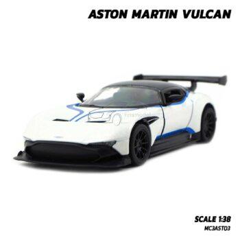 โมเดลรถสปอร์ต ASTON MARTIN VULCAN สีขาวลายแต่ง (1:38)