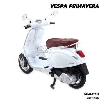 โมเดลรถเวสป้า VESPA PRIMAVERA Maisto สีขาว (1:12) เวสป้าจำลองสมจริง