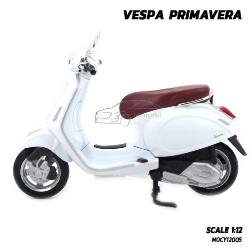 โมเดลรถเวสป้า VESPA PRIMAVERA Maisto สีขาว (1:12) Diecast Model Vespa