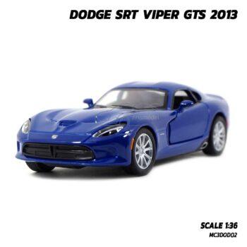 โมเดลรถเหล็ก DODGE SRT VIPER GTS 2013 สีน้ำเงิน (Scale 1:36) รถโมเดลจำลองสมจริง