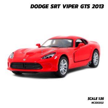โมเดลรถเหล็ก DODGE SRT VIPER GTS 2013 สีแดง (Scale 1:36) รถโมเดลจำลองสมจริง