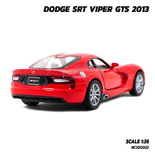 โมเดลรถเหล็ก DODGE SRT VIPER GTS 2013 สีแดง (Scale 1:36) รถโมเดล มีลานวิ่งได้