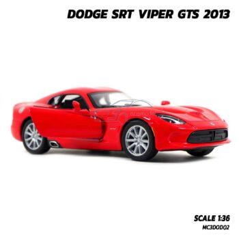 โมเดลรถเหล็ก DODGE SRT VIPER GTS 2013 สีแดง (Scale 1:36) รถโมเดล ประกอบสำเร็จ พร้อมตั้งโชว์