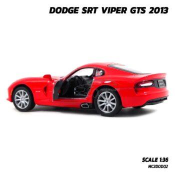 โมเดลรถเหล็ก DODGE SRT VIPER GTS 2013 สีแดง (Scale 1:36) รถโมเดล ภายในรถจำลองสมจริง