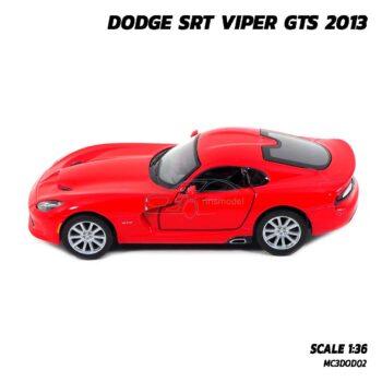 โมเดลรถเหล็ก DODGE SRT VIPER GTS 2013 สีแดง (Scale 1:36) รถโมเดล ของสะสม Kinsmart