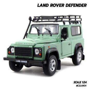 โมเดลรถ LAND ROVER DEFENDER สีเขียว Welly (1:24)