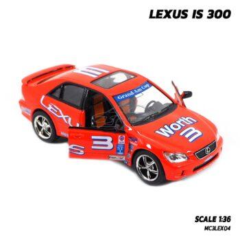 โมเดลรถ LEXUS IS 300 (Scale 1:36) รถเหล็กจำลอง เปิดประตูรถซ้ายขวาได้