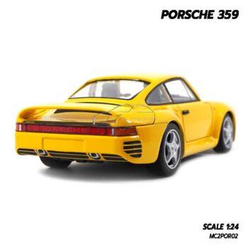 โมเดลรถ PORSCHE 359 สีเหลือง (1:24) รถโมเดลคลาสสิค จำลองเหมือนจริง