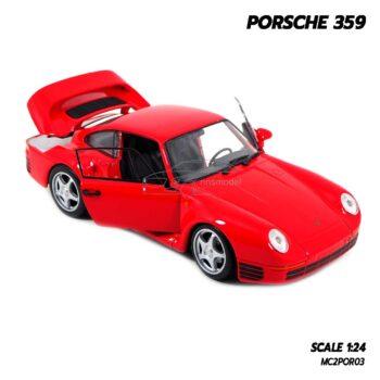 โมเดลรถ PORSCHE 359 สีแดง (1:24) โมเดลรถคลาสสิค เปิดประตูซ้ายขวาได้