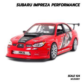 โมเดลรถ SUBARU IMPREZA PERFORMANCE สีแดง (1:24)