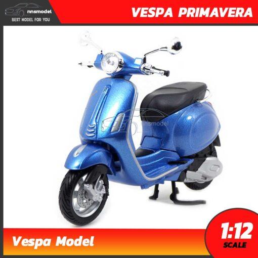 โมเดลเวสป้า VESPA PRIMAVERA สีฟ้า (Scale 1:12) Maisto