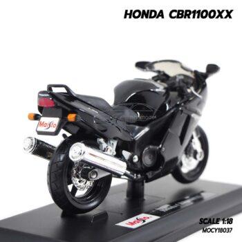 โมเดลบิ๊กไบค์ HONDA CBR1100XX สีดำ (Scale 1:18) มอไซด์จำลองเหมือนจริง พร้อมฐานตั้งโชว์