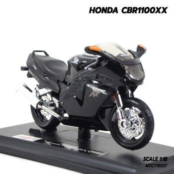 โมเดลบิ๊กไบค์ HONDA CBR1100XX สีดำ (Scale 1:18) โมเดลมอเตอร์ไซด์ ประกอบสำเร็จ