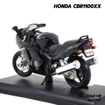 โมเดลบิ๊กไบค์ HONDA CBR1100XX สีดำ (Scale 1:18) โมเดลมอเตอร์ไซด์ ประกอบสำเร็จ พร้อมตั้งโชว์