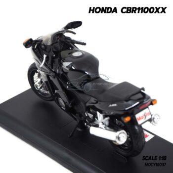 โมเดลบิ๊กไบค์ HONDA CBR1100XX สีดำ (Scale 1:18) โมเดลมอเตอร์ไซด์ ประกอบสำเร็จ พร้อมตั้งโชว์ ของสะสม Maisto