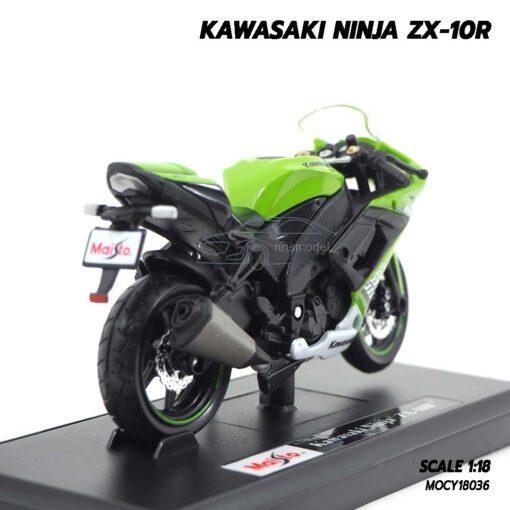 โมเดลบิ๊กไบค์ KAWASAKI NINJA ZX-10R (Scale 1:18) โมเดลมอเตอร์ไซด์ ประกอบสำเร็จ