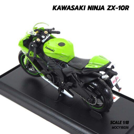โมเดลบิ๊กไบค์ KAWASAKI NINJA ZX-10R (Scale 1:18) โมเดล ninja พร้อมตั้งโชว์