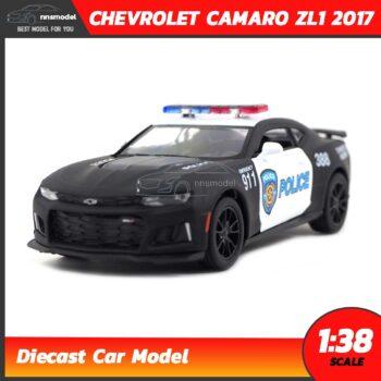 โมเดลรถตำรวจ CHEVROLET CAMARO ZL1 2017 (Scale 1:38) สีดำ