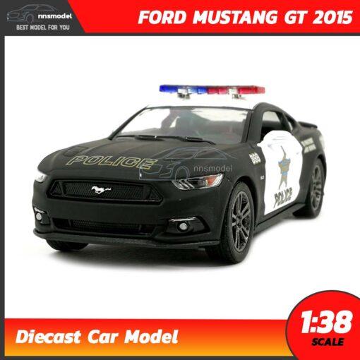 โมเดลรถตำรวจ FORD MUSTANG GT 2015 (Scale 1:38)