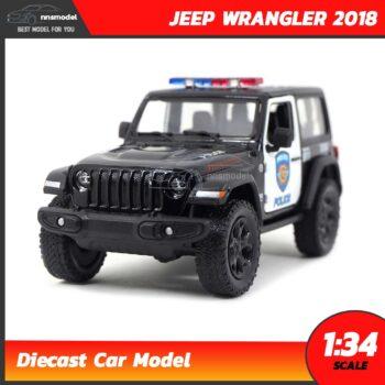 โมเดลรถตำรวจ JEEP WRANGLER 2018 (Scale 1:34)
