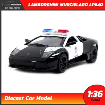 โมเดลรถตำรวจ LAMBORGHINI MURCIELAGO LP640 (Scale 1:36)
