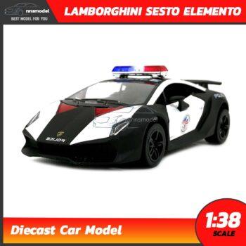 โมเดลรถตำรวจ LAMBORGHINI SESTO ELEMENTO (Scale 1:38)
