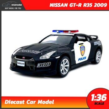 โมเดลรถตำรวจ NISSAN GT-R R35 2009 (Scale 1:36)