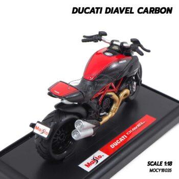 โมเดลรถบิ๊กไบค์ DUCATI DIAVEL CARBON (Scale 1:18) โมเดลดูคาติ ประกอบสำเร็จ พร้อมฐานตั้งโชว์