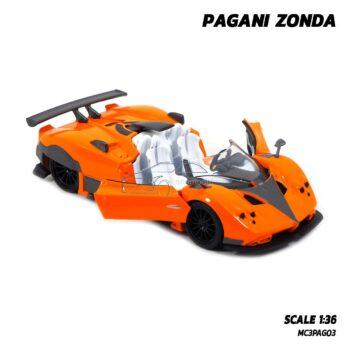 โมเดลรถสปอร์ต PAGANI ZONDA สีส้ม (Scale 1:36) model รถเหล็ก พร้อมตั้งโชว์