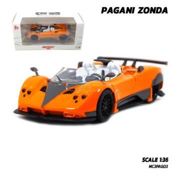 โมเดลรถสปอร์ต PAGANI ZONDA สีส้ม (Scale 1:36) model รถเหล็ก โมเดลรถสะสมเหมือนจริง