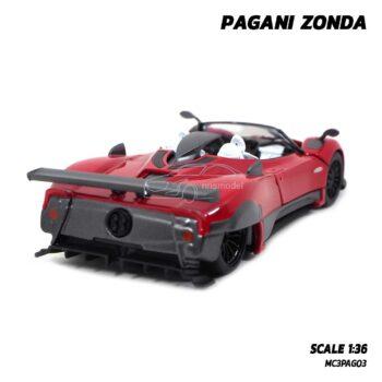 โมเดลรถสปอร์ต PAGANI ZONDA สีแดง (Scale 1:36) โมเดลรถเหล็ก ประกอบสำเร็จ