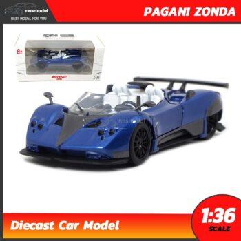 โมเดลรถเหล็ก PAGANI ZONDA (Scale 1:36) model รถเหล็ก สีน้ำเงิน