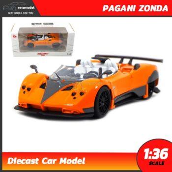 โมเดลรถเหล็ก PAGANI ZONDA (Scale 1:36) model รถเหล็ก สีส้ม