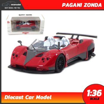 โมเดลรถเหล็ก PAGANI ZONDA (Scale 1:36) model รถเหล็ก สีแดง